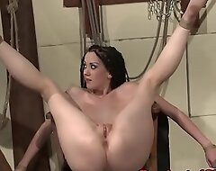 Compelled submissives pussy fucked and caressed