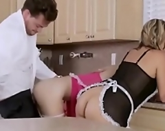 Slutty stepdaughter riding and sucking Hawkshaw to the fullest extent a finally mummy sees