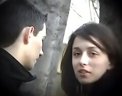 Bulgarian Sexy and Hot Brunette from Plovdiv Ride Boyfriends Cock on Bench Kissing Shellacking and Fondling - Lucky Future Husband Who Will Own Such Dynamite - Part 3