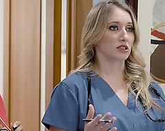 Girlsway Hot Rookie Nurse With Obese Knockers Has A Wet Pussy Formation With Her Superior