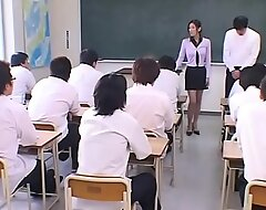 Japanese Teacher degraded and Cum covered by her Students in Miscellany