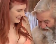 DADDY4K. Tender girl likes a lot to be caressed by bearded senior
