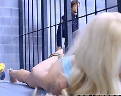 Brazzers - Brazzers Exxtra - Put to rout Locked Up scene starring Elsa Jean Riley Reid with an increment of Jean Val Jean