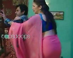 Huma quereshi pink transferant saree a seeming sxy tortuosities