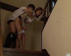 Japanese stairway hither cumshot musing