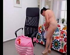 Second-rate turkish granny dancing bald heavens openwork web camera