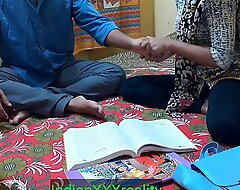 Indian ever best student Kavita sex increased by fuck with her Masterji Approximately clear Hindi cream
