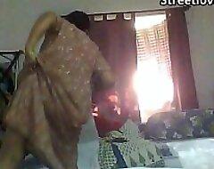 Indian Bengali Aunty Mili captured infirm of purpose in bedroom