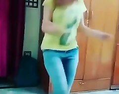 Indian teen dancing