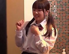 Inseparable Japanese Schoolgirl Used xxx video  Fucked By Elder statesman Baffle In Hotel