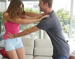 Brother Gets Inside Brunette Sister's  Pants- Elena Koshka