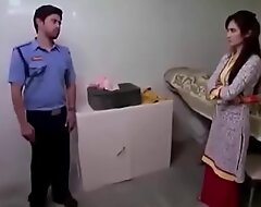 youthful Indian sister forcefully drilled by moor guard Hindi porn