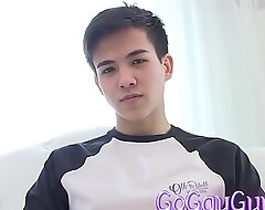 GOGAYGUY Cute Schoolboy Alex Stripping
