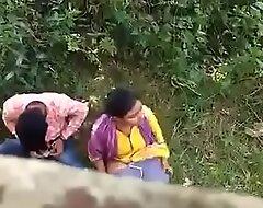 Indian couple putrefacient in excess of hidden camera