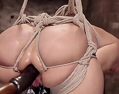 Successful tits Milf anal fucked in hogtie