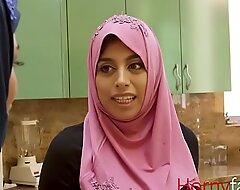 Muslim babe copulates her white stepdaddy-Ella knox