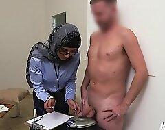 Cock-jerking performed in the air arab exhibit
