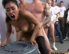 Her First Interracial Swinger Group 30
