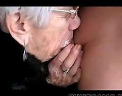 Granny sucks males strapon for her birthday - greater amount ...
