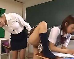 Japanese teacher making a good job