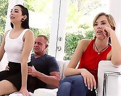 Malina Mars wake act dad with a hot blowjob