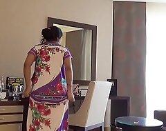 indian wife kajol in B & B animated nude show for husband