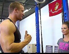 TheRealWorkout Tattooed big boobs babe Christy Mack hardcore gym intercourse