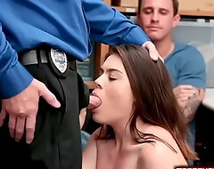 Latina gf punished by security guard in front of angry bf