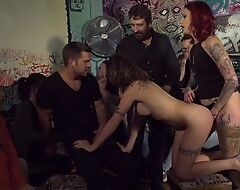 Crazy orgy with two nasty sluts and legendary Steve Holmes