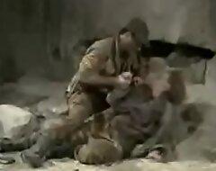 Rapest troops pauper screwing village teen girl.