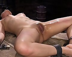 Chained loveliness snatch vibed to dungeon